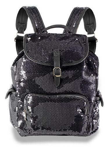 Faux Leather Black Sequin Backpack! Bling!!! #Unbranded #Backpack