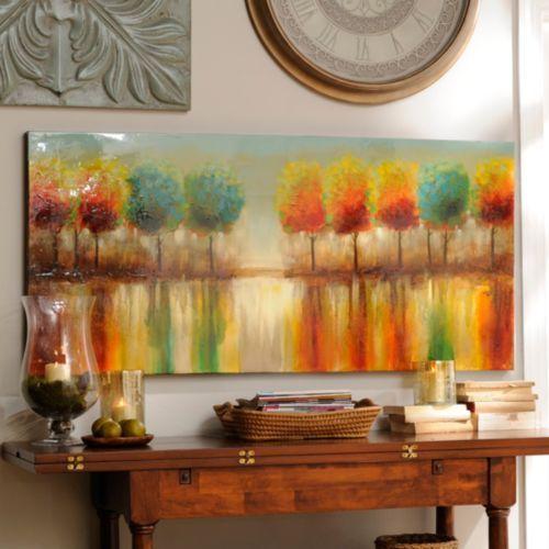 Kirklands Large Wall Decor : Tree reflections canvas oil painting kirklands dining