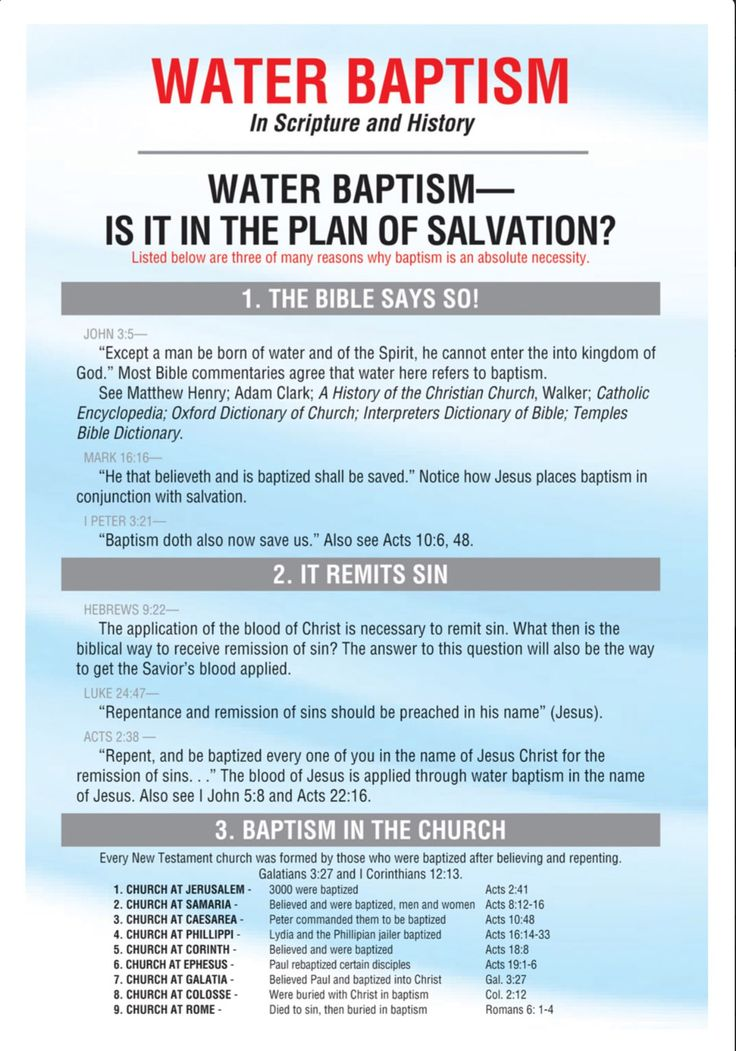 WATER BAPTISM BIBLE STUDY - The Summit