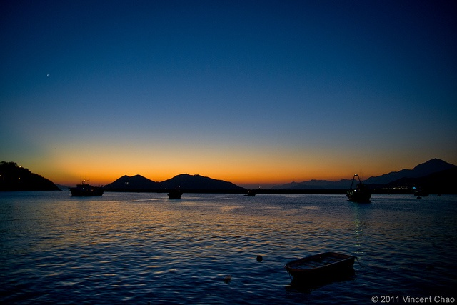 Sunset on Cheung Chau Island, Hong Kong - I hiked that shit up the mountain and right back down again.