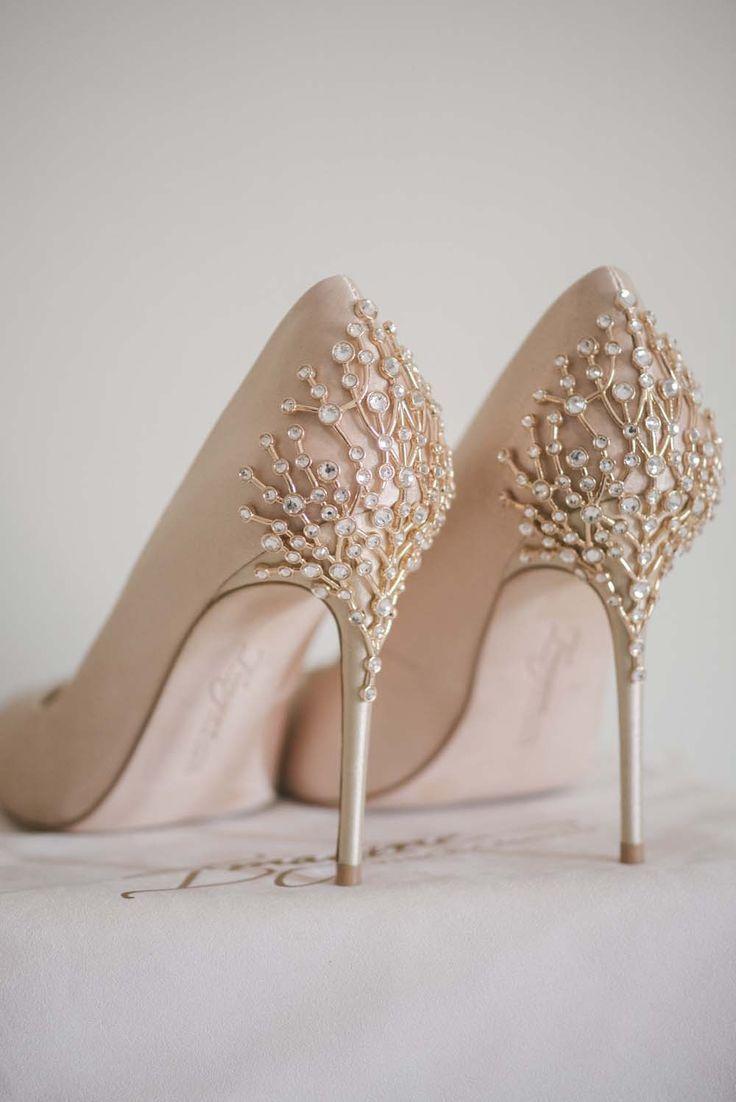Glitter wedding shoes