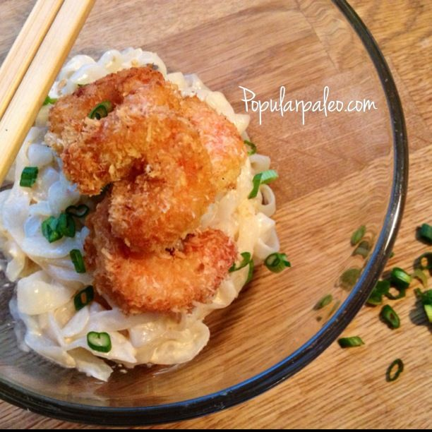Paleo Ginger Coconut Prawns on www.PopularPaleo.com   Unbelievably good and totally grain, gluten and soy free!