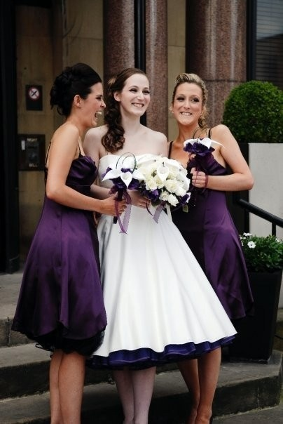 Wedding dress with purple petticoat love the hint of for Petticoat under wedding dress