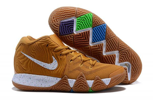 a7b9fab2103 2018 Nike Kyrie 4 Cinnamon Toast Crunch Metallic Gold Coin White BV0426-900 -2