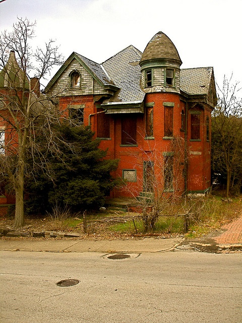 Abandoned mansion in McKeesport, Pennsylvania.