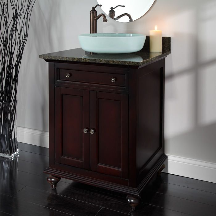 41 best images about powder room on pinterest vanities for Powder room vanity sink cabinets