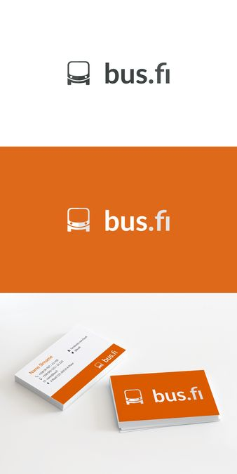 Create a logo for a new bus transportation booking service, bus.fi by SB.D