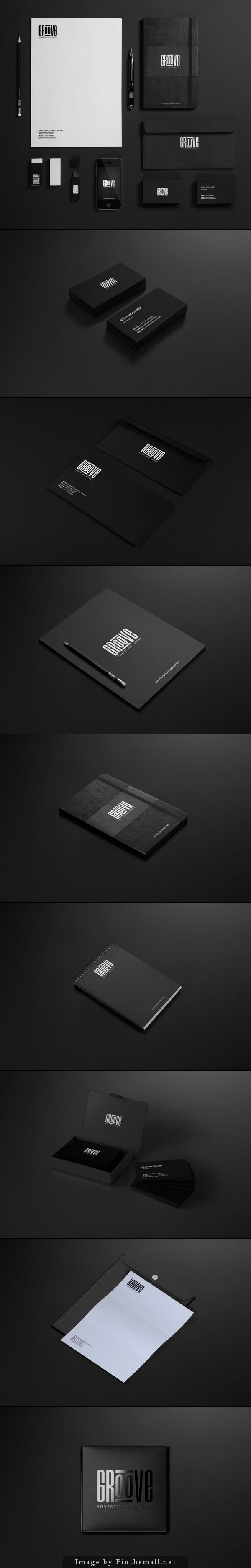 corporate identity branding logo minimal business card letter letterhead packaging wcc sticker brochure label graphic design coated notepad black