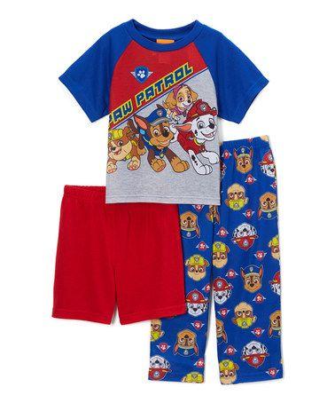 Look at this #zulilyfind! PAW Patrol Red & Blue Pajama Set - Toddler #zulilyfinds