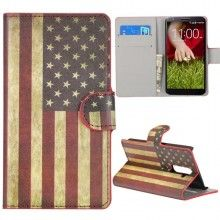 Forro LG G2 - Flip Libro Bandera USA  $ 26.759,76