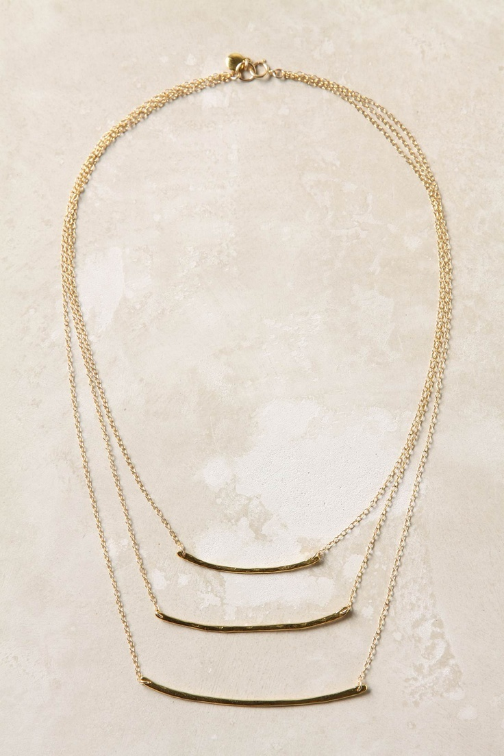 Anthro, Sky Ladder Necklace @Lindsey Evans I want THIS necklace!! would it be easy to make?