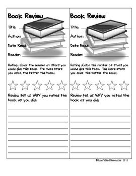 """Let the kids review books for each other. This two in one worksheet allows students to """"review"""" the books for one another. Print on colored paper and hang the reviews around the book shelves, so other students can make """"informed decisions"""" about what they want to read."""