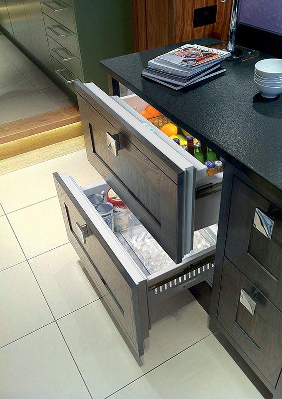 1000 id es sur le th me frigo tiroir sur pinterest tiroir cuisine cuisine - Refrigerateur sous plan de travail ...