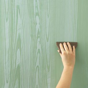 How To Paint Your Walls So They Look Like Wood Grain.