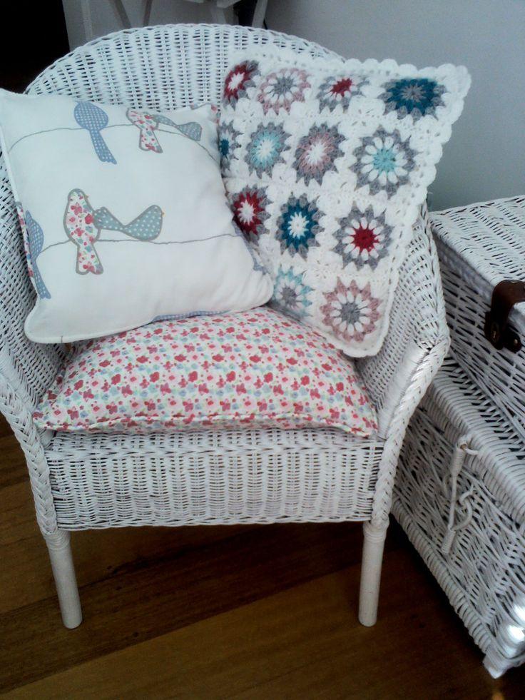 My crochet cushion in Thandi's beautiful pattern :-)