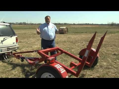 Haul hay the easy way with the 2EZ-ONE bail mover at GoBob Pipe & Steel Sales - YouTube