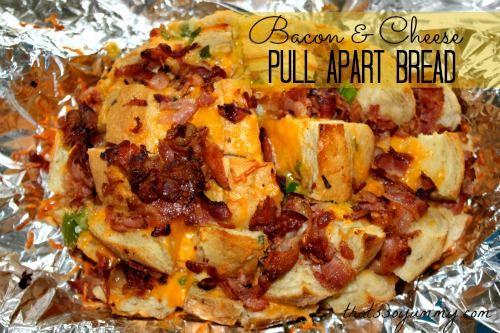 Bacon & Cheese Pull-Apart Bread | Recipe