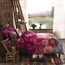 Sleepwish Magenta cama colcha de casamento Boho capa de edredão roupa de cama 4 Pcs jogo de cama gêmeo rainha em venda(China (Mainland))