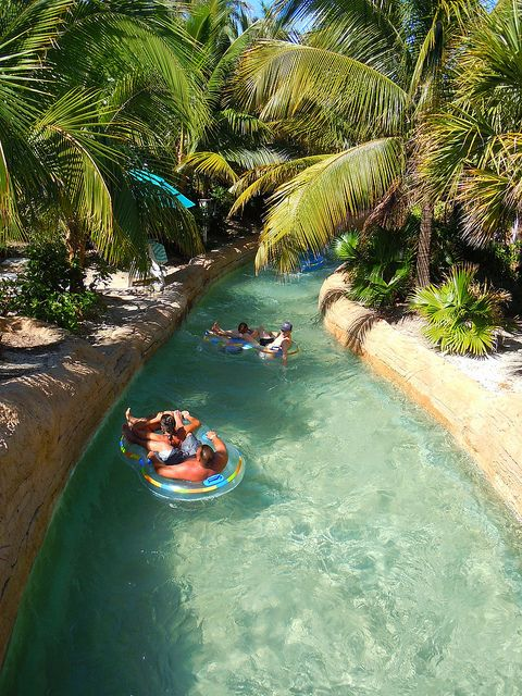 Lazy River, Atlantis, Paradise Island, Bahamas.Try The Lazy River for a tranquil, relaxing time float along the quarter-mile lazy river.