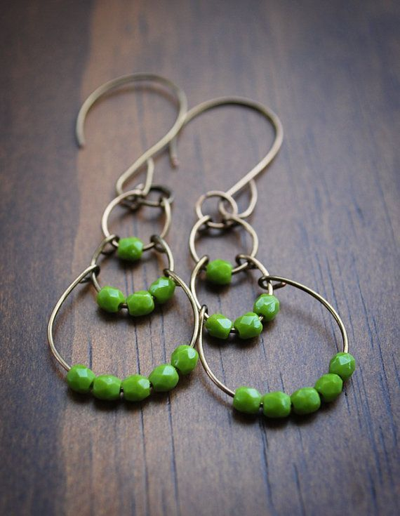 Big Hoop Earrings Hippie Bohemian Earrings by DeerGirlDesigns. $30.00 USD, via Etsy.