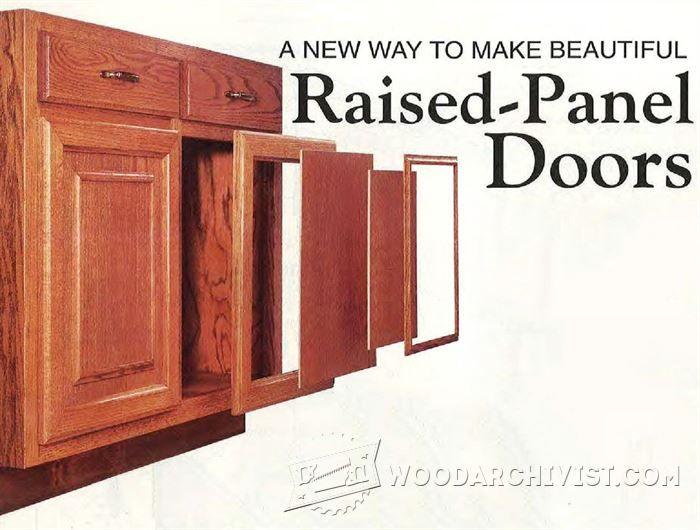 Making Raised Panel Doors   Cabinet Door Construction Techniques |  WoodArchivist.com
