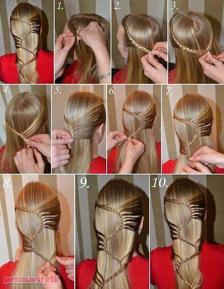 Resimli anlatımlı farklı bir örgü modeli | Saç Modelleri | Pek Marifetli!