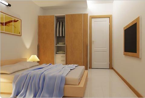Nesta foto o que destaca é o armário de correr pra ganhar espaço!