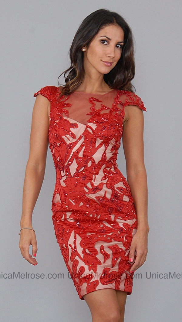 Love this dress from Nashville! Wish it was less the $1,989 dollars! Mandalay Red Sequin Lace Dress