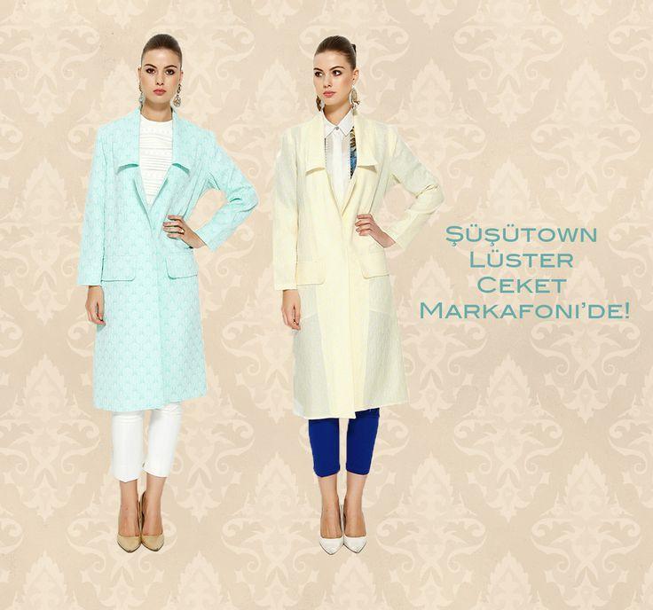 Şüşütown Lüster Ceket- Jacket hijab style www.susutown.com
