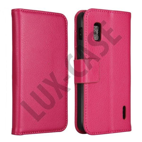 FlipStand Google Nexus 4 Leather Case (Stark Rosa)