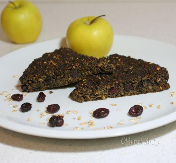 Makovo - jablkový koláč s vločkami
