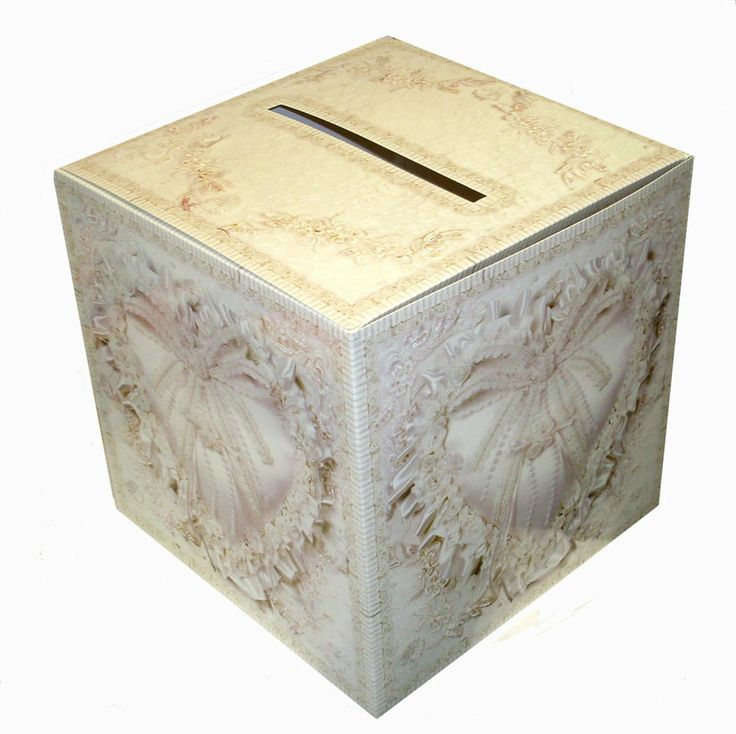 WEDDING CARD POST BOX Heart Design Receiving Well Wishing Table Decorations