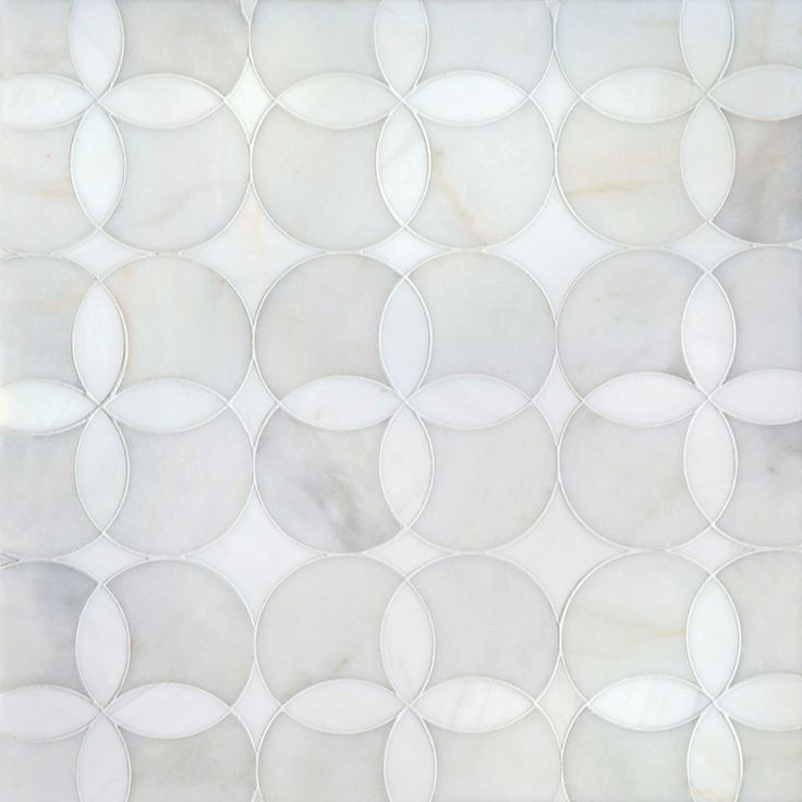 Talya Multi Finish Constantine A D Marble Waterjet Mosaics 13 5/8x13 5/8 - From Country Floors of America