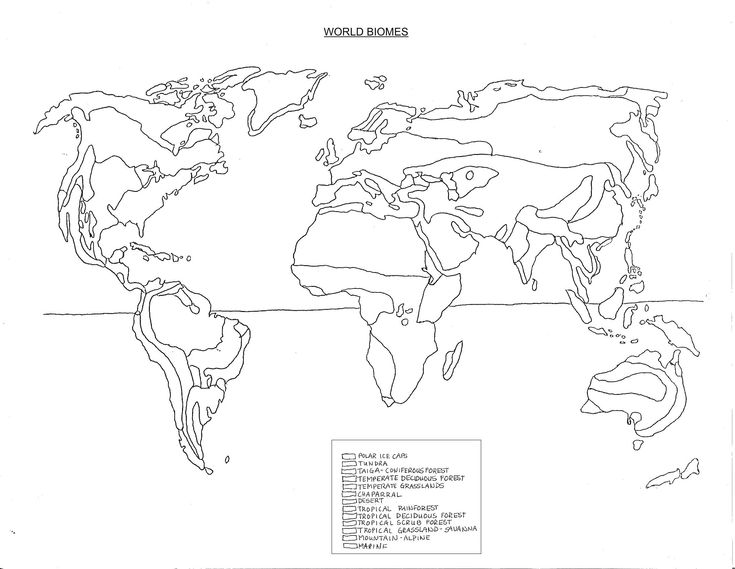 World Biomes Coloring Map Printable World Free Printable Images – Biomes of the World Worksheet