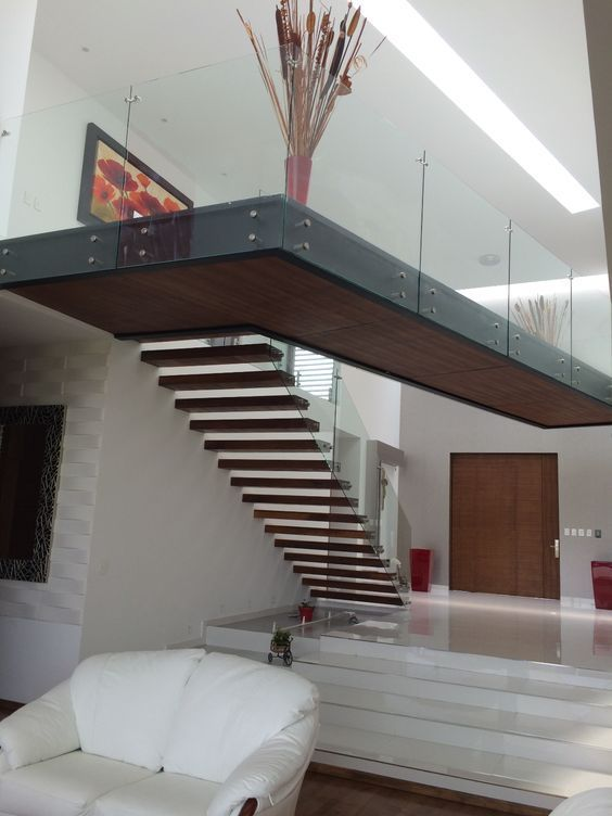 Best Norway Floating Wood Staircase Villa Glass Stair Idea 400 x 300