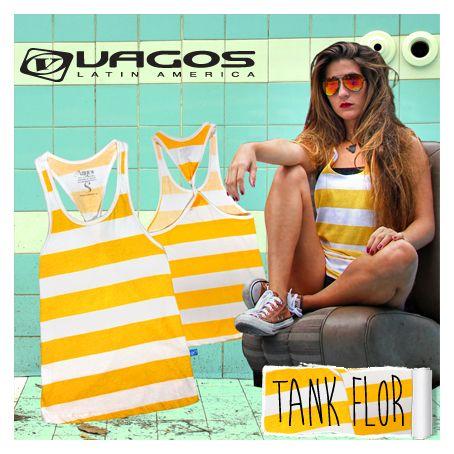 Moda Chicas. Tank Flor