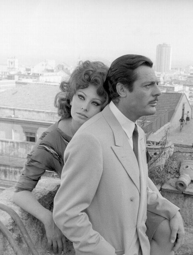 Ces couples mythiques du cinema sophia loren et Marcello Mastroianni
