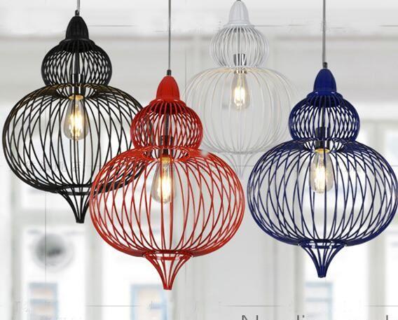 Европейский творческий железа клетка для птиц кулон лампы чердак старинные светильники для столовой бар ресторан украшение A011купить в магазине Y3 lighting StoreнаAliExpress