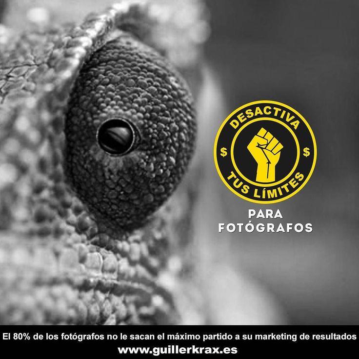 El #80% de los #fotógrafos no le saca el máximo #partido a su #marketing de #resultados. Aprende cómo sacarselo para vender más tus servicios. Contacta conmigo ahora y hablamos www.guillerkrax.es
