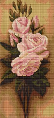 Pink Roses Cross Stitch Kit By Luca S (two)