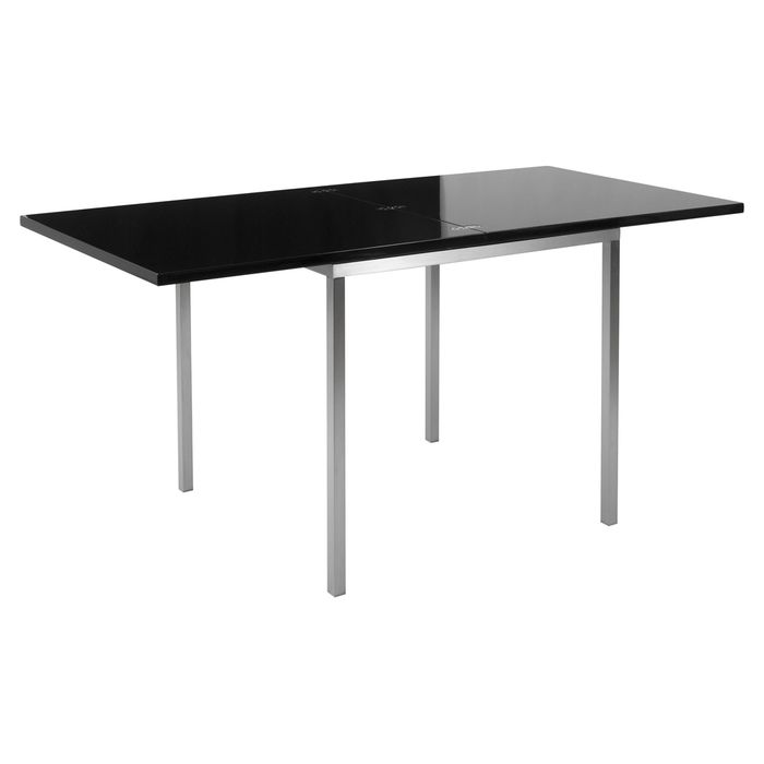 Flick extendable dining table black