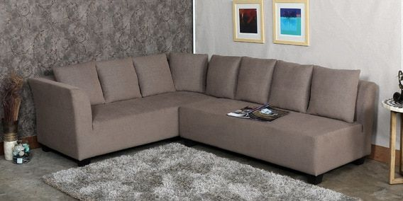 Buy Naples Interchangeable L Shaped Sofa Set With Cushions In Brown Colour By Furnitech Online Bucket Lhs Sectional Sofas Sectional Sofas Furniture Pe L Shaped Sofa Sofa Set Sectional Sofa