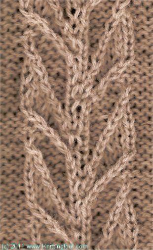Knittingfool Stitch Gallery : 17 Best images about Leaf/Ivy/Vine Knit Stitch Patterns on Pinterest Stitch...