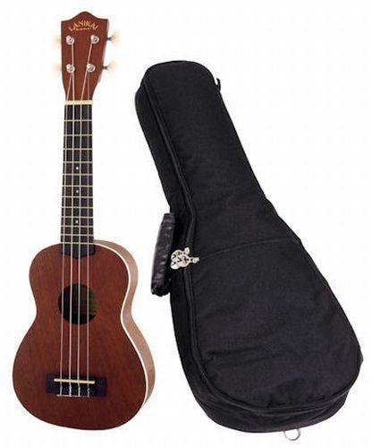 Lanikai LU-21 Soprano Ukulele with Gig Bag by Lanikai. $74.99. The Lu-21 is the best selling Soprano Ukulele offered by Lanikai. With the attention to detail and easy playability it is easy to see why. This handcrafted ukulele is made with Nato wood (otherwise known as Eastern Mahogany) on its top back and sides. When this wood choice is paired with the Rosewood fingerboard it brings out a mellow tone with an enhanced midrange that is often missing in instruments ...