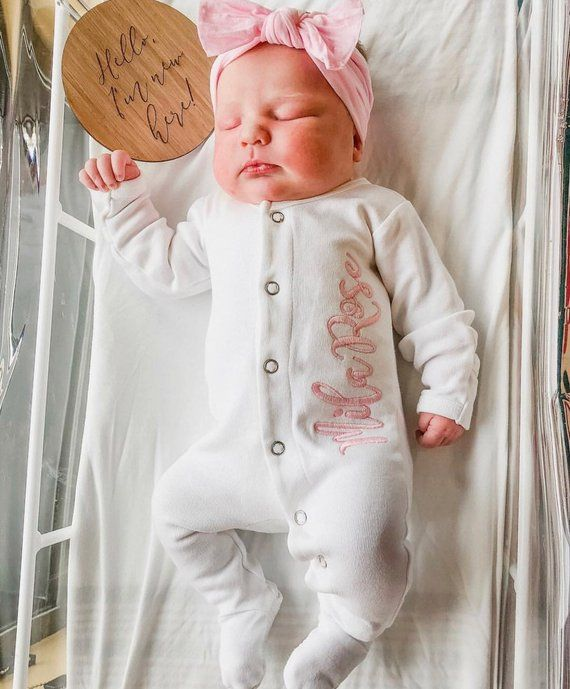 b64305d0d baby girl coming home outfit take me home monogrammed | Etsy | Baby ...