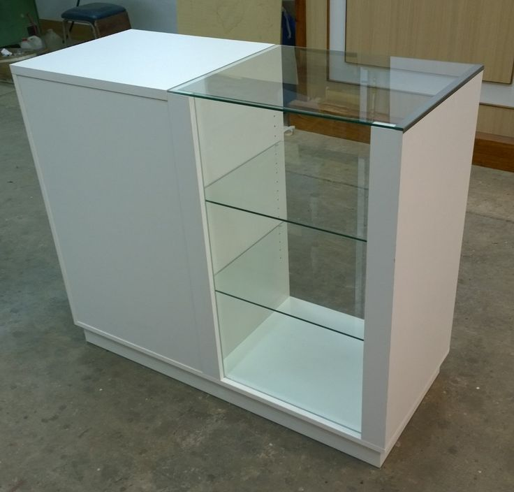 mostrador con vitrina - envío gratis!!! carpinteríainstalmad