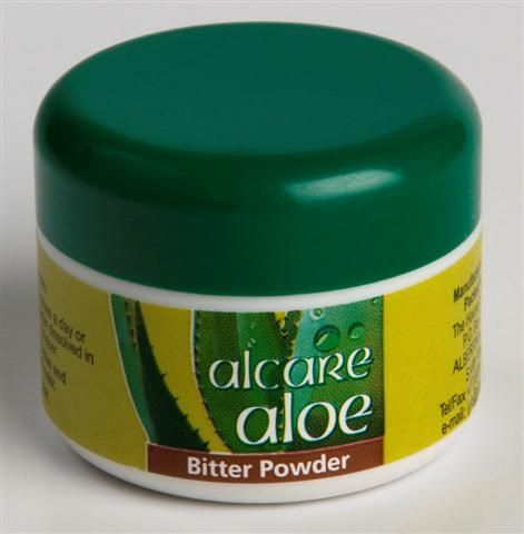 Bitter Powder. Made from natural bitter Aloe ferox sap that has been spray dried to a fine yellow powder.  Aloin, the main ingredient, is a strong laxative that has purifying properties, making it an excellent aid in detoxifying the body. Bitter Powder is also said to relieve the symptoms of hay fever and sinusitus. Order online: http://on.fb.me/1fJVdeb #yellowpowder #detoxifying #sinusitus