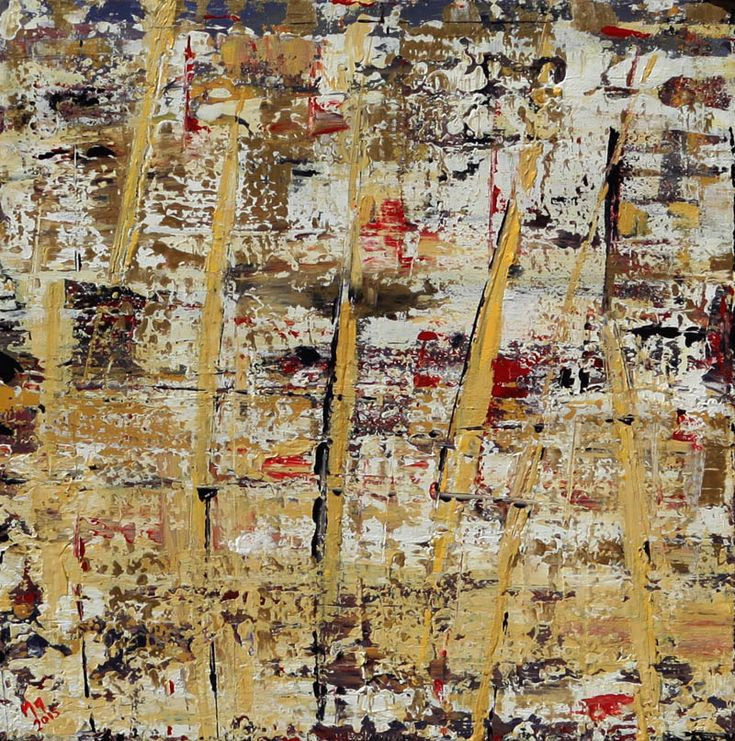 Manolis Pentes 'Composition' 2016 acrylic 57X57cm