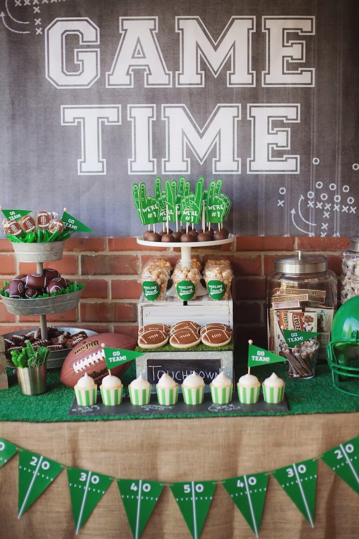 Tailgate Football Birthday Party at Kara's Party Ideas. See more at karaspartyideas.com!
