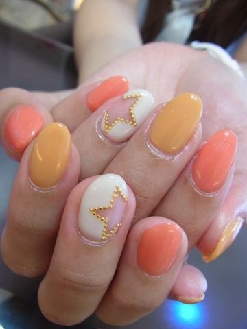 Japanese nail design....luv the studded star
